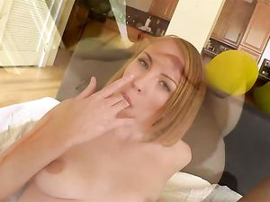 Tiny Tits Cocksucker Stuffed With His Fat Dick
