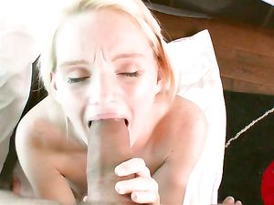 Teen Lips Stretch Around A Big Dick To Suck It