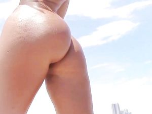 Nude Beach Babe Follows Him Home For Big Dick