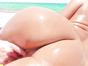Nude Beach Babe Follows Him Home For Big Dick