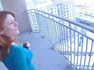 Public POV Fucking Of The Hot Redheaded Girl