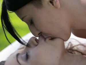 Gorgeous Lesbians On A Picnic Having Erotic Sex