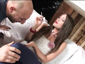 Bald Dude And A Beautiful Girl Have Hot Anal Sex