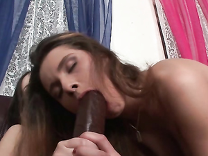 Big Strapon Cock Fucks Both Of Her Drenched Holes