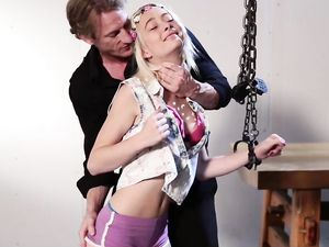 BDSM Teen Is A Tiny Fuck Slut In Tight Rope
