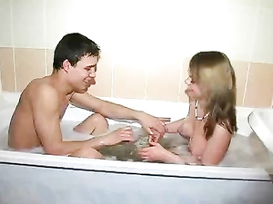 Sucking His Dick In The Bath And Riding Him Later