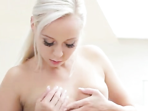 Small Tits Blonde Teen Gets Dirty In A Solo Session