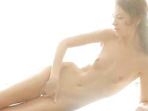Sensual Skinny Teen Masturbates Her Slippery Pussy