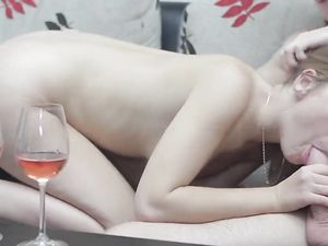 Making Love After Wine With His Perfect Girlfriend