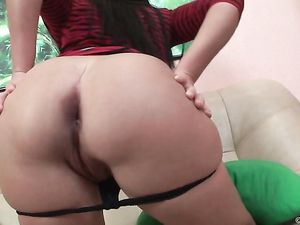 Sexy Lipstick Blowjob Arouses Him To Fuck Her Ass
