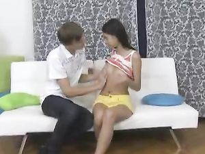 BJ From A Long Legged Babe Leads To Lusty Fucking