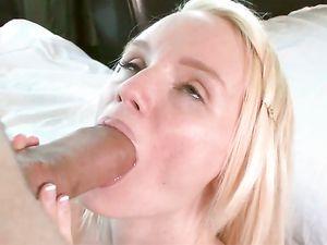 Teen Lips Stretch Around A Big Dick To Suck It