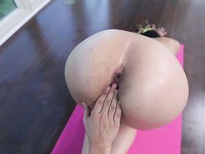 Hot Pink Yoga Pants On His Flexible Fuck Slut