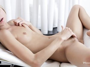 Solo Teen Cutie Arouses Her Pussy With Talented Fingers