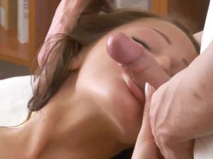Cock Fills Her Russian Teen Cunt And Cums On Her Back
